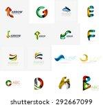 set of new universal company... | Shutterstock . vector #292667099