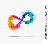 vector watercolor infinity... | Shutterstock .eps vector #292668491