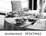gorgeous wedding table setting... | Shutterstock . vector #292674461