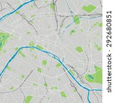 paris vector map ultra detailed | Shutterstock .eps vector #292680851