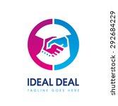 handshake logo   Shutterstock .eps vector #292684229