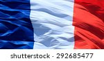 Closeup Of French Flag