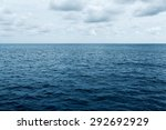 Blue Sea And Cloudy Sky Waves...