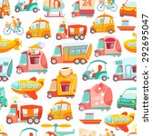cute kawaii seamless pattern... | Shutterstock .eps vector #292695047