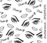 beauty seamless pattern. face... | Shutterstock .eps vector #292695191