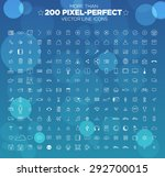 more than 200 pixel perfect... | Shutterstock .eps vector #292700015