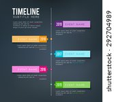 vector timeline template   for... | Shutterstock .eps vector #292704989