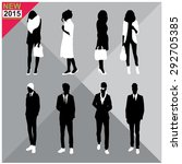set of men and women black... | Shutterstock .eps vector #292705385
