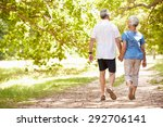 senior couple walking together... | Shutterstock . vector #292706141