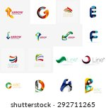 set of new universal company... | Shutterstock .eps vector #292711265
