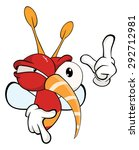 cartoon illustration of a red... | Shutterstock . vector #292712981