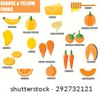 orange and yellow foods... | Shutterstock .eps vector #292732121