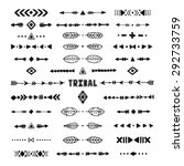 hand drawn tribal collection... | Shutterstock .eps vector #292733759