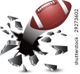 breakthrough football isolated | Shutterstock .eps vector #29273602