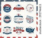 american memorial day badges... | Shutterstock .eps vector #292746611
