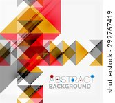 abstract geometric background.... | Shutterstock .eps vector #292767419