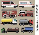 ambulance  fire vehicles and...   Shutterstock .eps vector #292768571