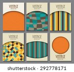 big collection set of retro... | Shutterstock .eps vector #292778171