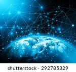 best internet concept of global ... | Shutterstock . vector #292785329