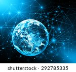 best internet concept of global ... | Shutterstock . vector #292785335