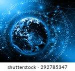 best internet concept of global ... | Shutterstock . vector #292785347