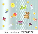 baby scrapbook elements | Shutterstock .eps vector #29278627