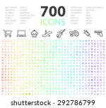 set of 700 minimal modern... | Shutterstock .eps vector #292786799