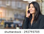 smiling young businesswoman in... | Shutterstock . vector #292793705
