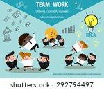 growing a successful business  ... | Shutterstock .eps vector #292794497