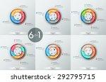 set of 6 modern infographics... | Shutterstock .eps vector #292795715