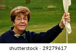 Portrait Of Senior Woman Golfe...