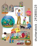 animals in the pet store | Shutterstock .eps vector #292800125