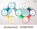 infographics step by step.... | Shutterstock .eps vector #292807835