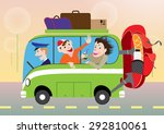 funny pictures of active summer ... | Shutterstock .eps vector #292810061