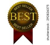 best seller golden tags  | Shutterstock .eps vector #292826375
