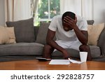 disapointed troubled african... | Shutterstock . vector #292828757