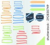 ribbon banners flat | Shutterstock .eps vector #292830749