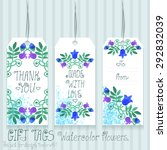 gift tags set for design.... | Shutterstock .eps vector #292832039