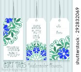 gift tags set for design.... | Shutterstock .eps vector #292832069