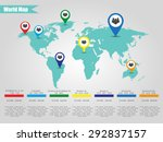 colorful modern infographic... | Shutterstock . vector #292837157