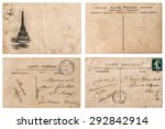 antique french postcard  with... | Shutterstock . vector #292842914