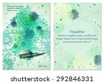 collection of vector template... | Shutterstock .eps vector #292846331