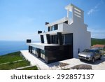 external view of a contemporary ... | Shutterstock . vector #292857137