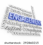 engagment word in 3d letters... | Shutterstock . vector #292860215