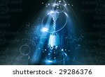 illustration of golden ear ring ... | Shutterstock . vector #29286376
