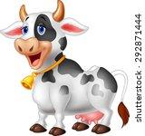 Stock vector cartoon happy cartoon cow 292871444