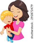 Cartoon Happy Family Mother...