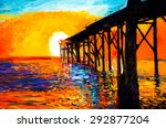original oil painting on canvas ... | Shutterstock . vector #292877204