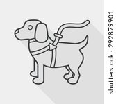 pet dog flat icon with long... | Shutterstock .eps vector #292879901