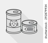 pet cat food can flat icon with ... | Shutterstock .eps vector #292879934